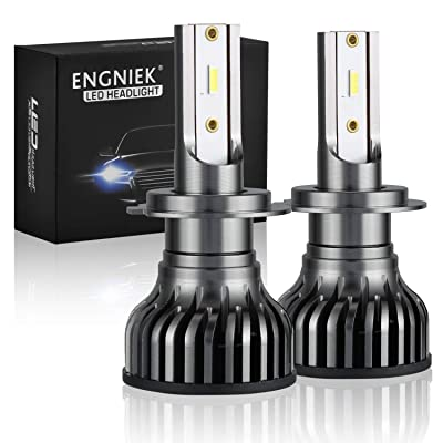 H7 LED Headlight Bulbs Pure White Bright High Low Beam Conversion Kit 40W 9800Lm 6000K, 2 Pack: Automotive