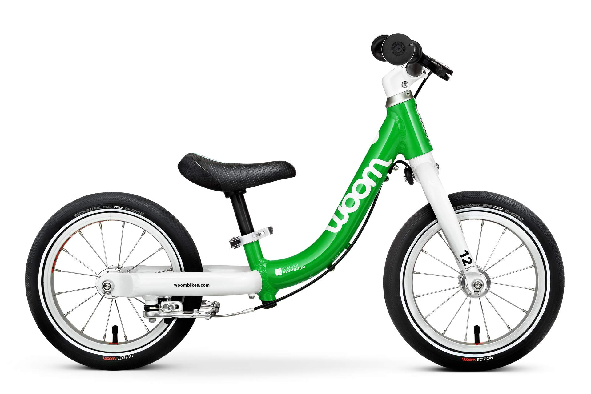 woom 1 Balance Bike 12'', Ages 18 Months to 3.5 Years, Green