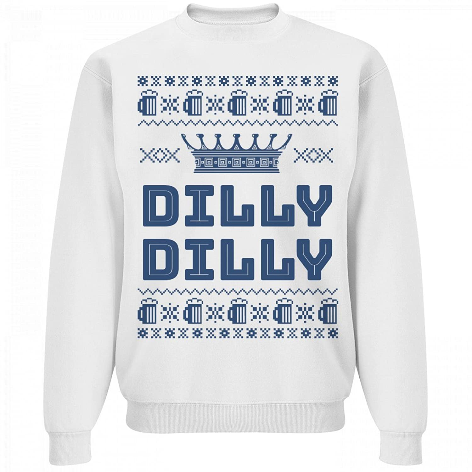 org dilly dilly christmas beer sweater unisex jerzees crewneck sweatshirt