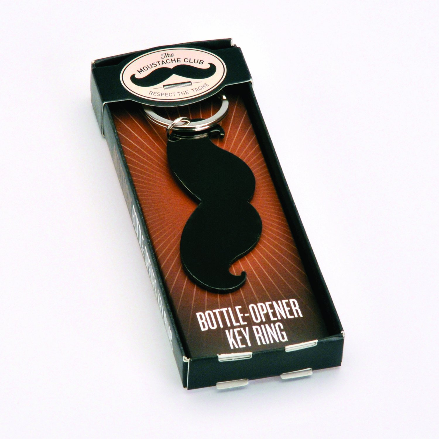 Family Games Moustache Bottle Opener Key Ring by Family Games (Image #1)