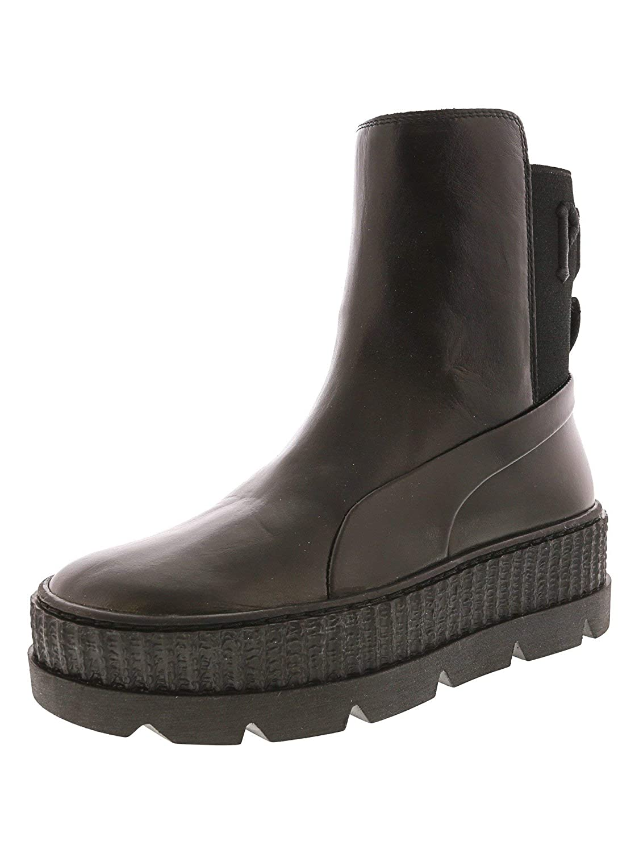 PUMA Women's Fenty x PUMA Chelsea Sneaker Boots, Puma Black
