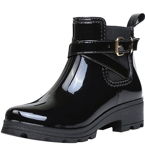 1d85e3772 Botas de Agua Bota de Goma Mujer Impermeable lluvia Zapatos Tobillo Casual  Calzado  Amazon.es  Zapatos y complementos