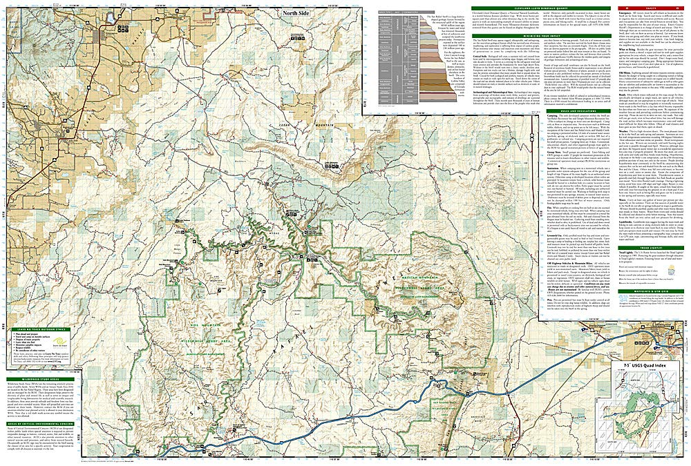 san rafael swell utah map San Rafael Swell Trails Illustrated Other Rec Areas National Geographic Trails Illustrated Map Amazon In National Geographic Maps Books