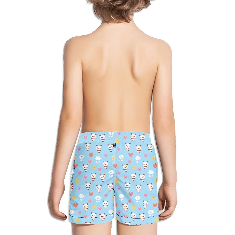 Novelty Panda Bear Printed Little boy Swimsuit Trunks Short