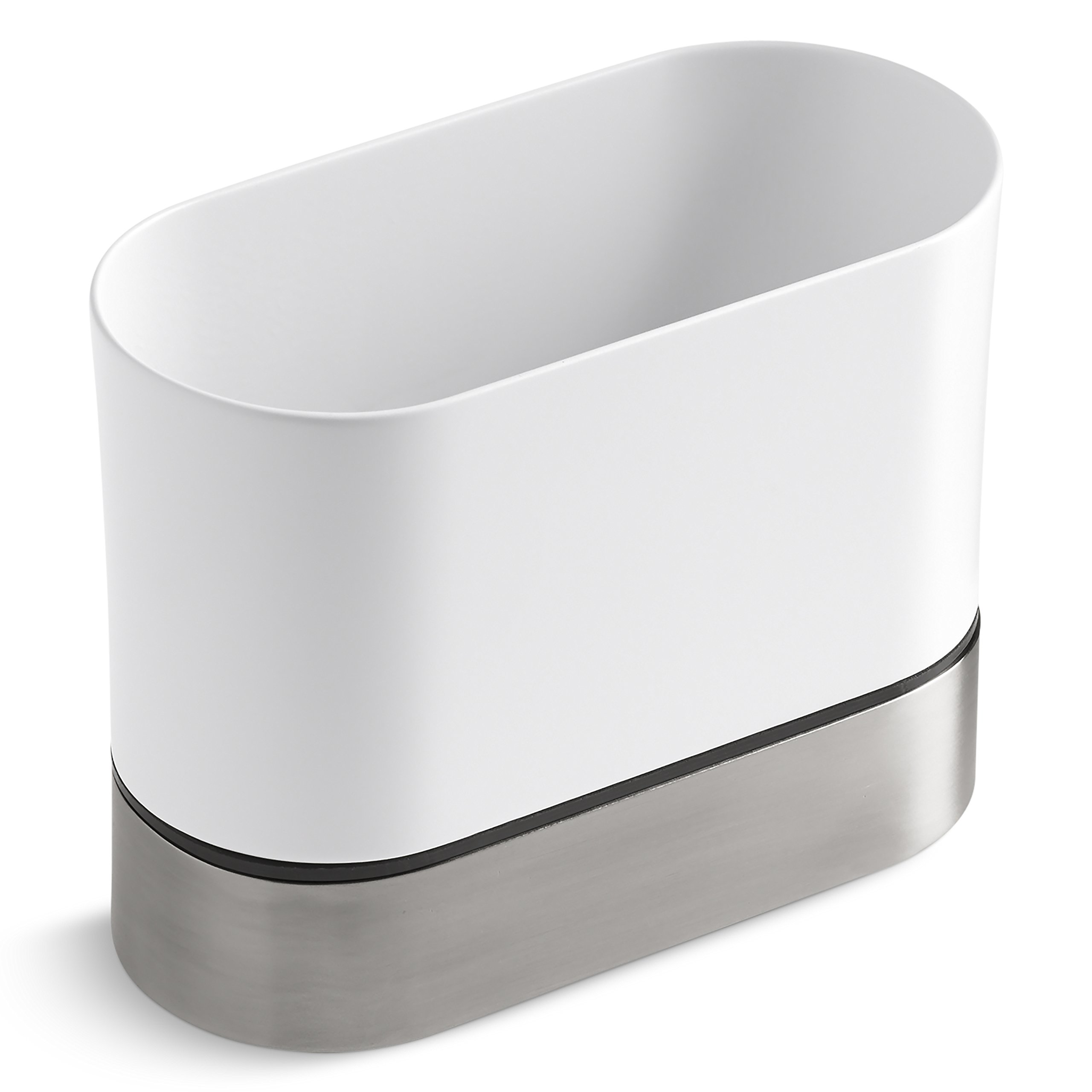 KOHLER Kitchen Dish Brush Holder, Sink Caddy, Silicone and Stainless ...