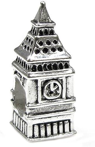 Abalorio de plata de ley 925 con dise/ño de la puerta de Berl/ín de Berl/ín y Brandeburgo para pulsera europea