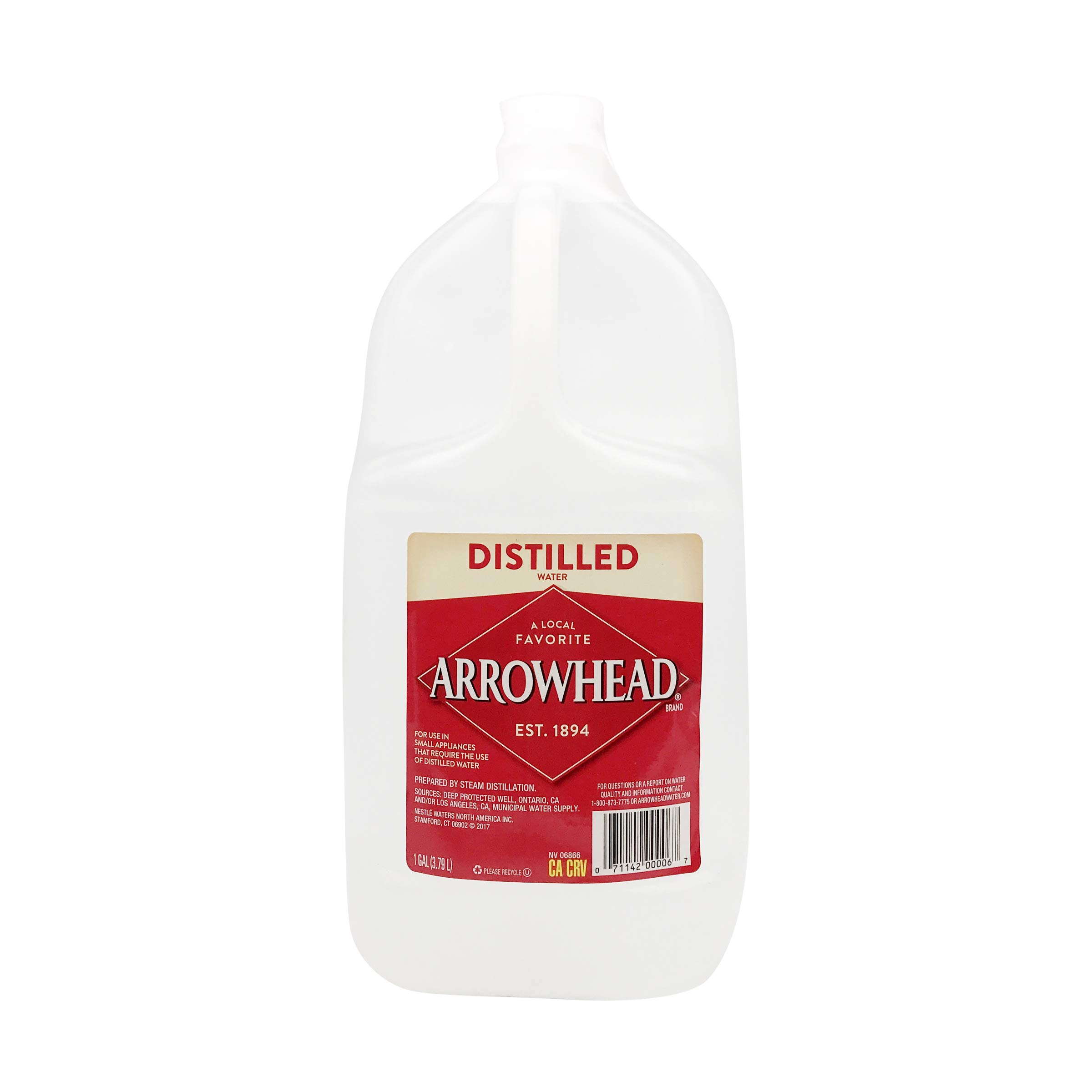 Arrowhead Brand Distilled Water, 127.99 oz