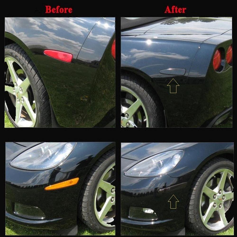 C6 Corvette 2005-2013 4-Piece Side Marker Blackout Kit CorvetteMods