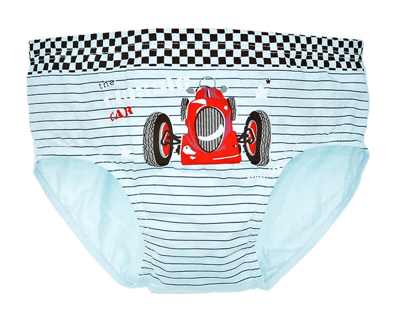 KK-Jim Kids Car Pattern Underwear Briefs 5 Pack of Underwear for Boys 2T-14