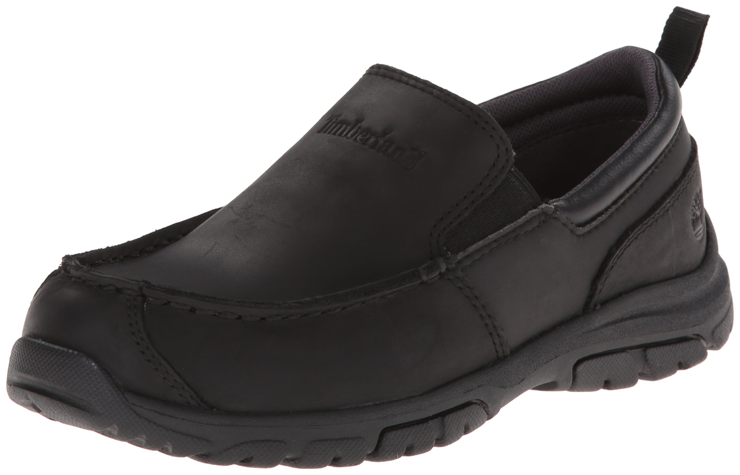 Timberland Discovery Pass Moc Toe Moc Toe Slip-On (Toddler/Little Kid/Big Kid),Black,7.5 M US Toddler