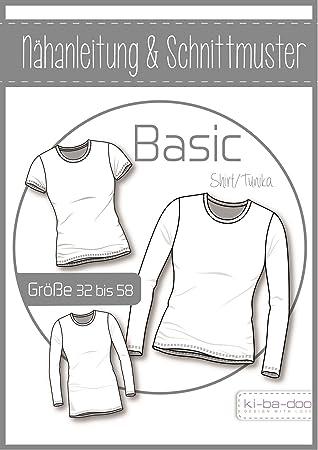 Papierschnittmuster Basic Shirt/Tunika für Damen: Amazon.de: Küche ...