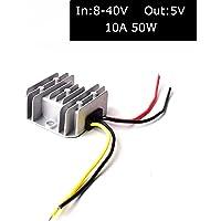 DC 12V/24V/36V to DC 5V (Accept DC 8-40V Inputs) Truck Car Step Down Power Adapter Converter Reducer Regulator for Auto…