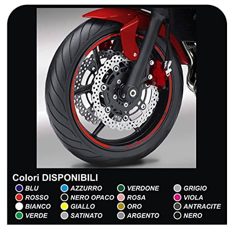 Pegatinas Llantas motos ruedas adhesivos tiras pegatinas llantas Moto GP estilo pegatinas para motos llantas (