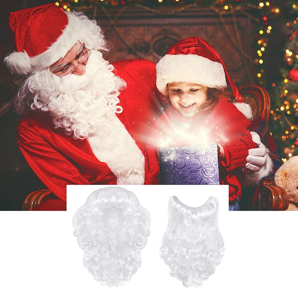 TOYANDONA Santa Wig and Beard Set Christmas Costume for Adult