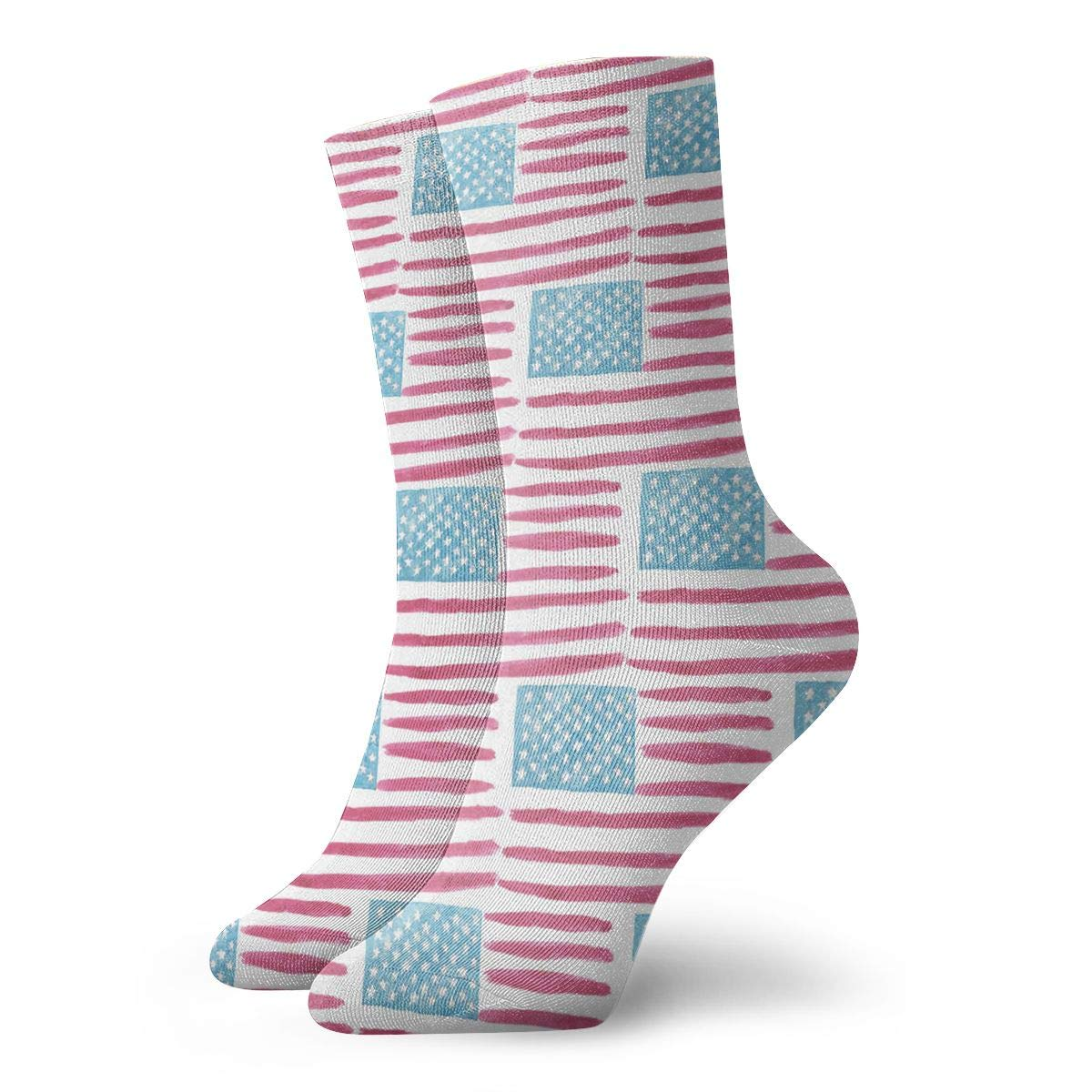 Art Red Blue Unisex Funny Casual Crew Socks Athletic Socks For Boys Girls Kids Teenagers