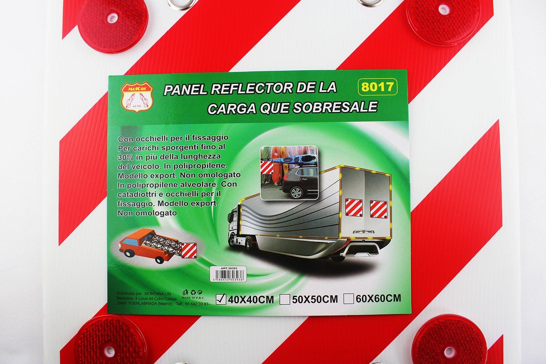 Amazon.es: MOLCAR Panel Reflector Trasero para señalización de Cargas, Cuadrada, Visibilidad Noche (50x50)