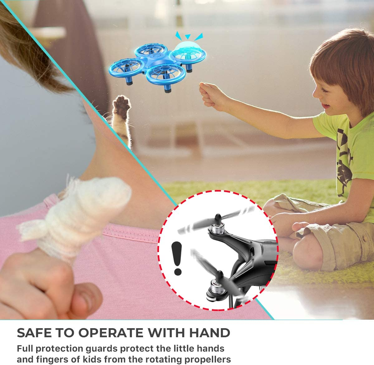 Gift for Boys Girls-DK01 Dragon Touch Mini Drone for Kids One Key Return/&Speed Adjustment Altitude Hold Headless Mode 3D Flips G-Sensor Mode RC Helicopter with 2 Batteries