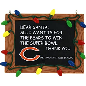 Amazon.com : Chicago Bears Official NFL 3 inch x 4 inch Chalkboard ...
