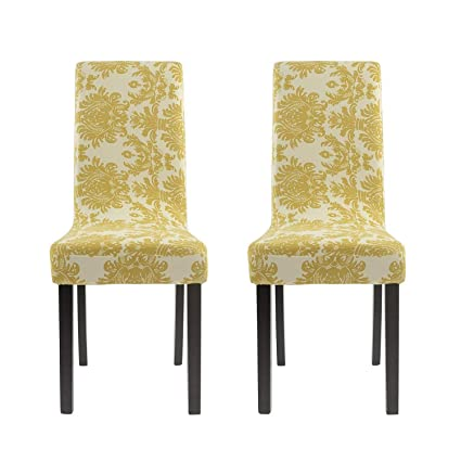 Image Unavailable Not Available For Color Homluxe Printed Spandex Stretch Dining Room Chair Slipcovers