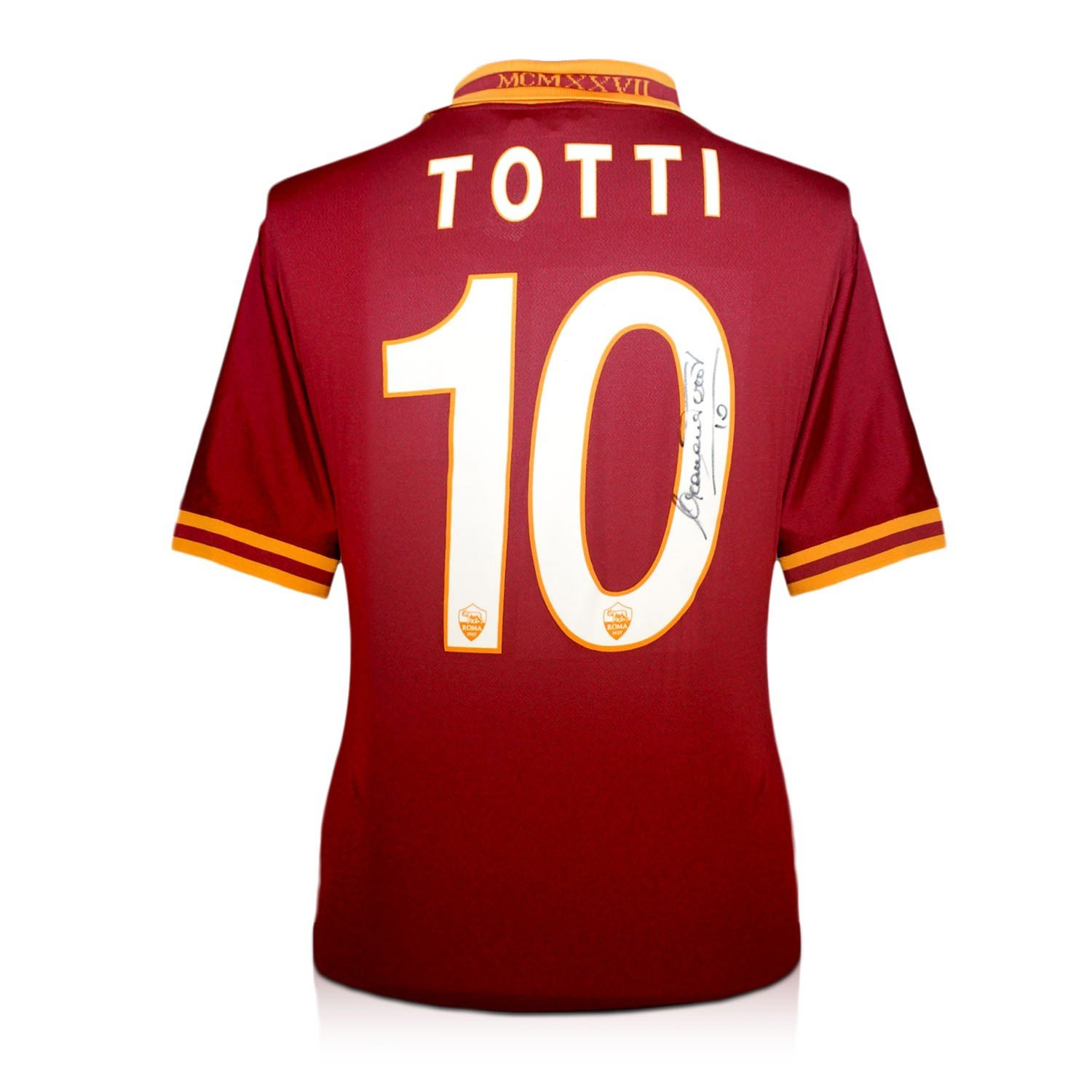 Signiert Francesco Totti AS Roma Fußball Trikot: Amazon.de: Sport ...