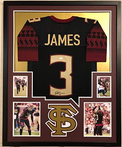 9c876a2fb Image Unavailable. Image not available for. Color  FRAMED FLORIDA STATE  SEMINOLES DERWIN JAMES AUTOGRAPHED SIGNED JERSEY ...