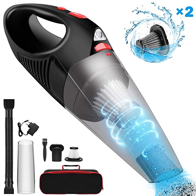 Car Vacuum Cleaner >> Cordless Car Vacuum Cleaner Upgraded Fujiway Rechargeable Handheld Vacuum Cleaner With Led Light 6500pa Strong Suction Wet Dry Use Hand Vacuum