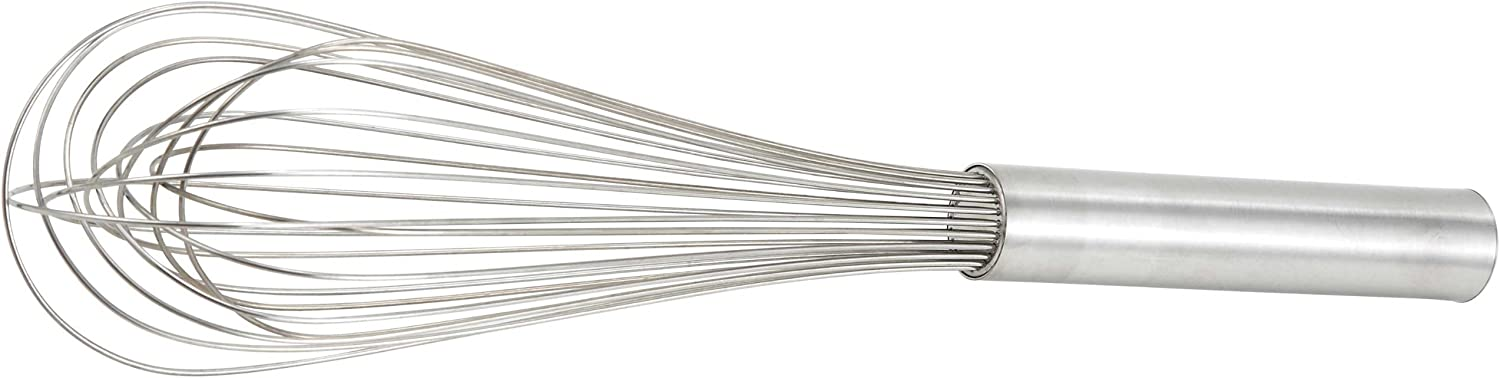 Winco Stainless Steel Piano Wire Whip, 14-Inch