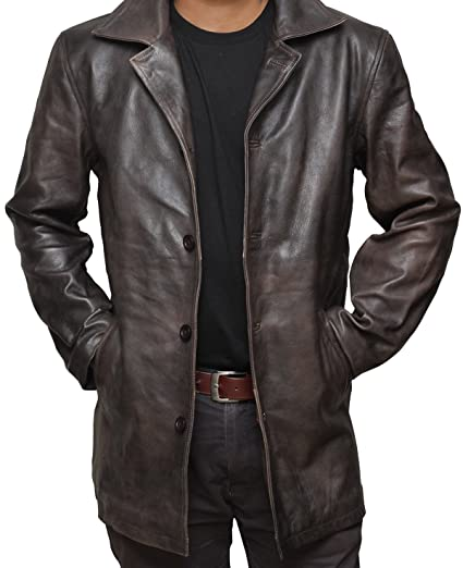 Brown Leather Jacket Men Natural Distressed Leather Jackets For