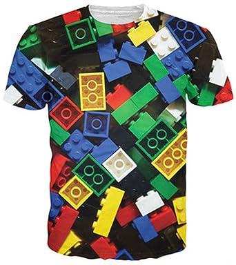 Lego Bricks T-Shirt Super Popular Kids Toy 3D Print t Shirt Camisetas for Unisex