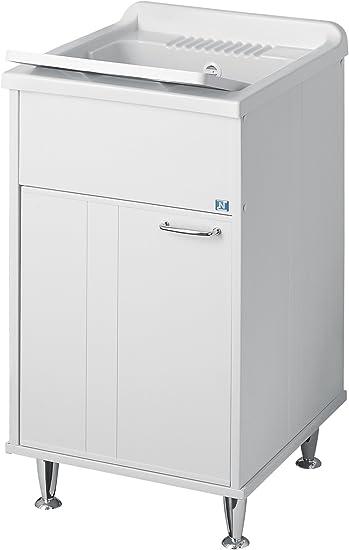 Lavandino Per Esterno In Plastica.Negrari 9046a Mobile Lavatoio In Resina Per Esterno Bianco