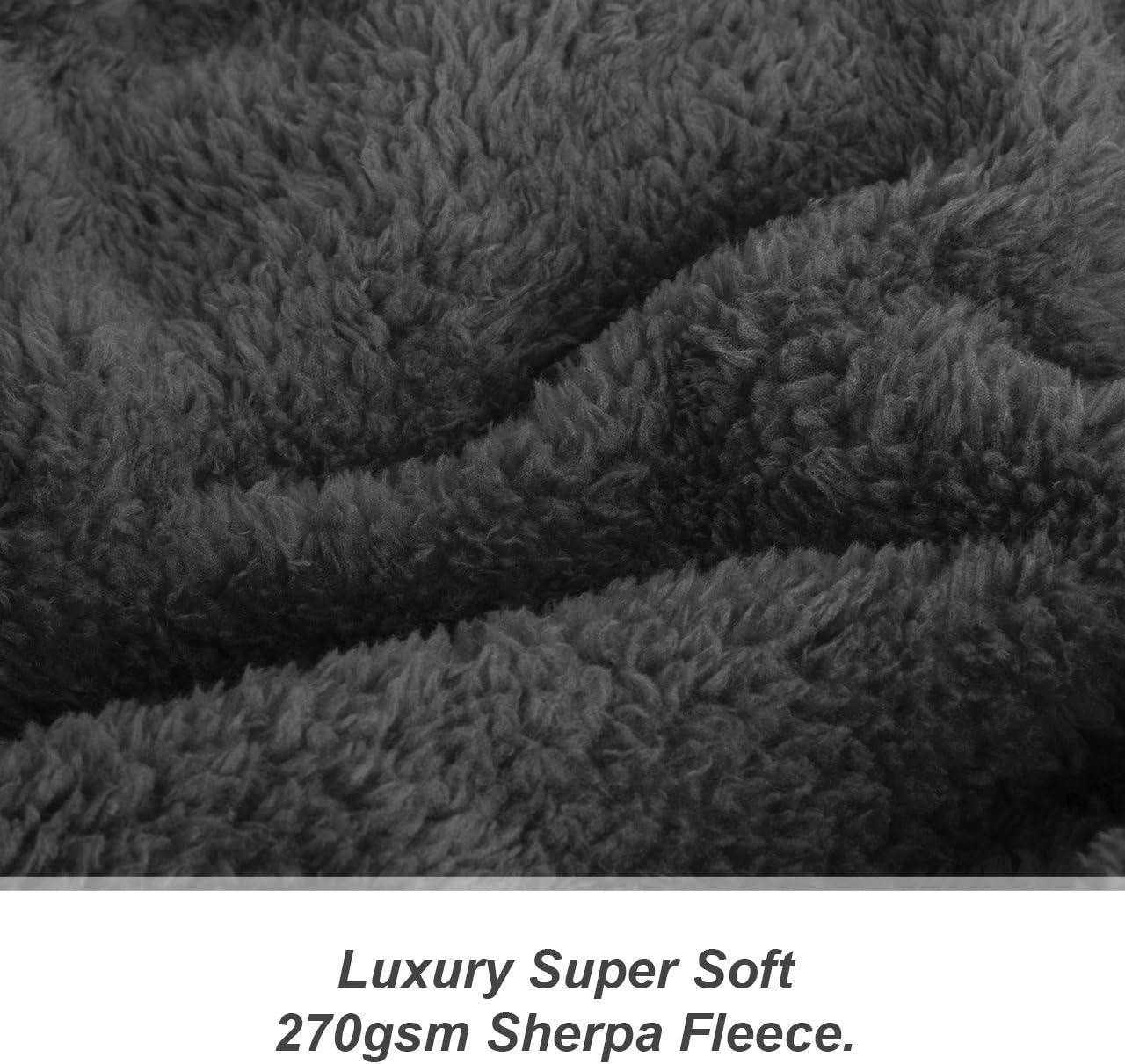 127 x 178 cm Manta de Lana Sherpa Snug Rug Special Edition Luxury Teal