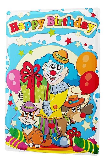 Targa In Metallo Di Buon Compleanno Scheda Di Compleanno Con