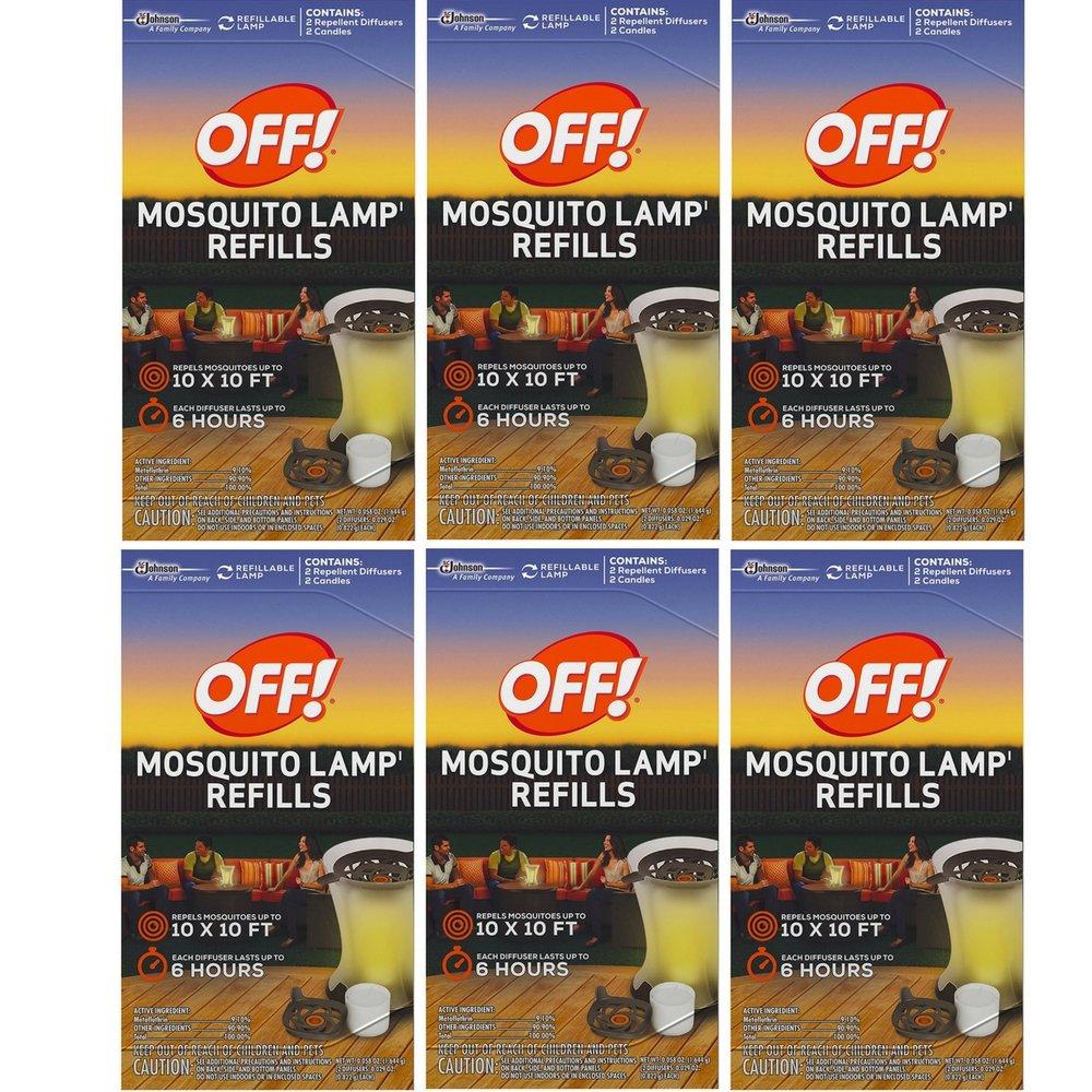 S C JOHNSON WAX 76086 Off Mosquito Lamp Refill, 2-Pack (6 Box)