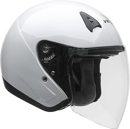 b625f390 Vega Helmets VTS1 Open Face Motorcycle Helmet with Inner Sunshield – DOT  Certified Full Face Shield