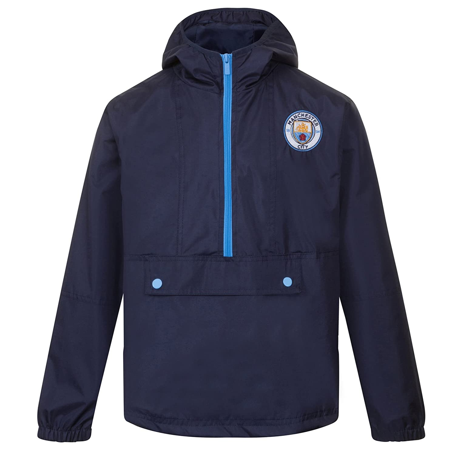 Manchester City FC Official Soccer Gift Boys Shower Jacket Windbreaker