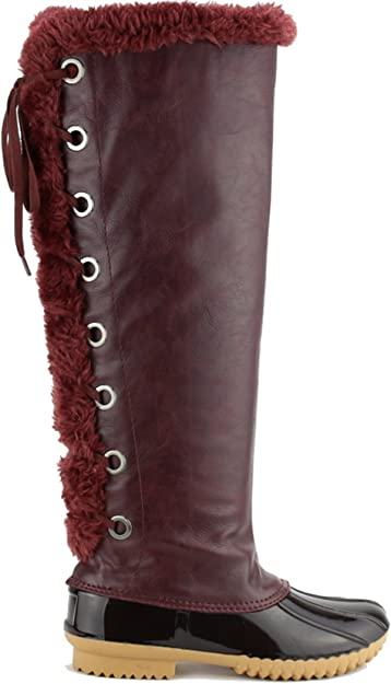 Women's Knee High Winter Boots Lace Up