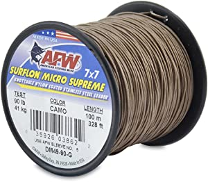 American Fishing Wire Surflon Micro Supreme Nylon Coated 7x7 Stainless Steel Leader Wire