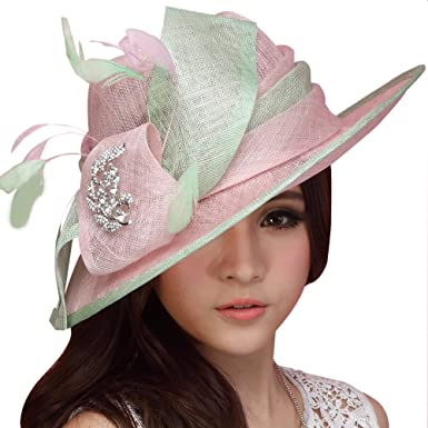 bc187c3a Image Unavailable. Image not available for. Colour: June's Young Women  Ladies Church Hat Cocktail Sun ...