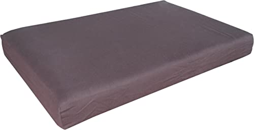 Go Pet Club RR-34 Memory Foam Orthopedic Dog Pet Bed, 34 by 22 by 3-Inch, Chocolate