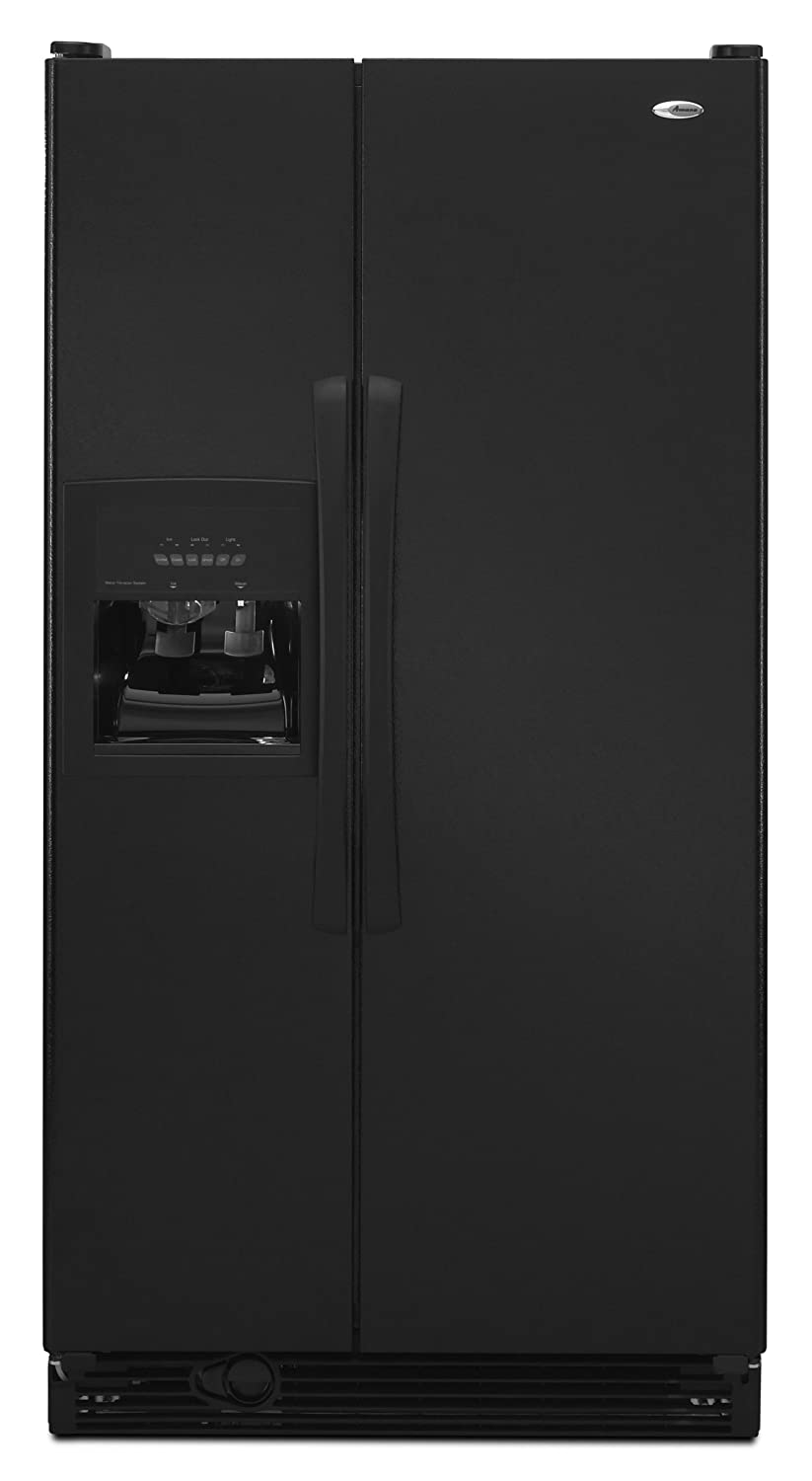 Amana side by side refrigerator reviews - Amazon Com Amana 25 Cubic Foot Side By Side Refrigerator Asd2522wrb Black Appliances