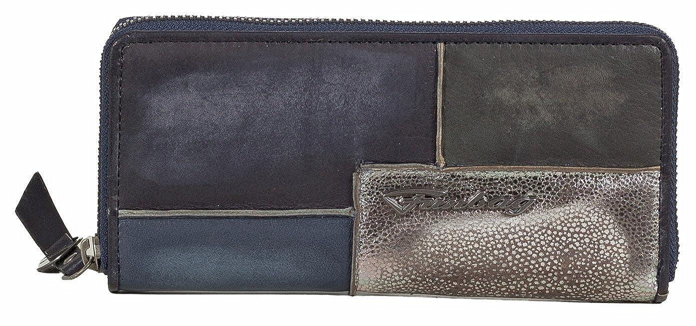 Funbag Damen Börse Geldbörse Portemonnaie aus Glattleder im