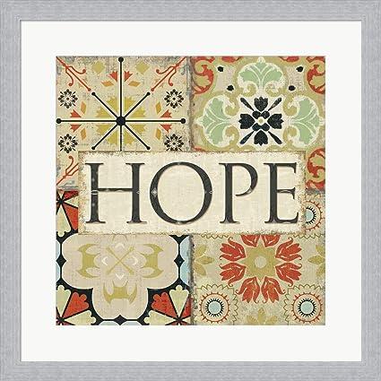 Amazon.com: Spice Santorini II - Hope by Pela Studio Framed Art ...