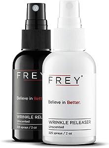 FREY Revolutionary Wrinkle Release Spray – 2 Pack of 2 Ounce Travel Size Bottles (325 Sprays Each)…