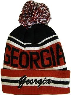 5eda728da68 BVE Sports Novelties Georgia Adult Size Striped Winter Knit Beanie Hats