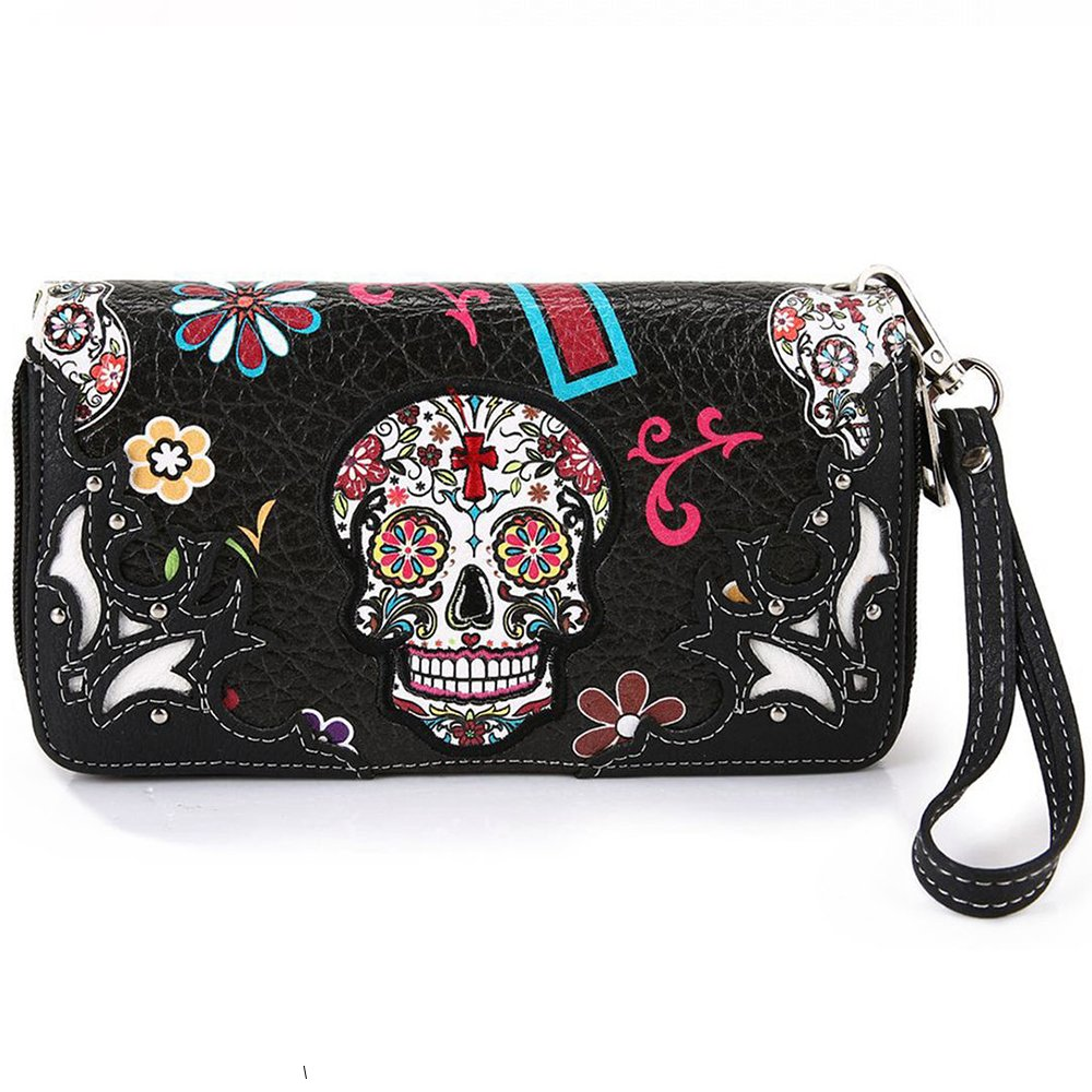 La Dearchuu Western Wristlet Wallet and Western Wristlet For Women (black1)