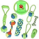 10pcs Dog Chew Toys Interactive for Small Medium Breed Boredom Teeth Cotton Rope
