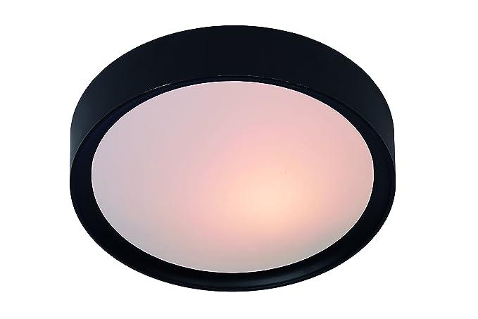 Lucide lex flush ceiling light ø 33 cm black