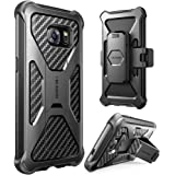 Galaxy S7 Case, i-Blason Prime [Kickstand] Samsung Galaxy S7 2016 Release [Heavy Duty] [Dual Layer] Combo Holster Cover case with [Locking Belt Swivel Clip] (Black)