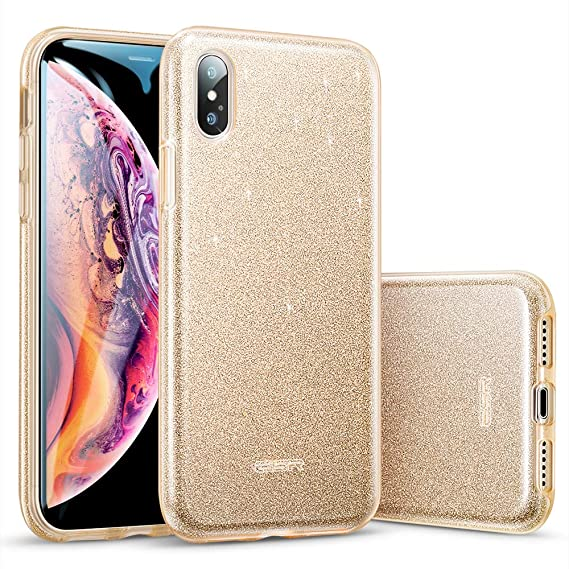 fb61fe7a76 Image Unavailable. Image not available for. Color: ESR Makeup Glitter Case  for iPhone X ...