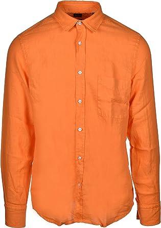 Hugo Boss Relegant - Camisa de lino con solapas de animales ...
